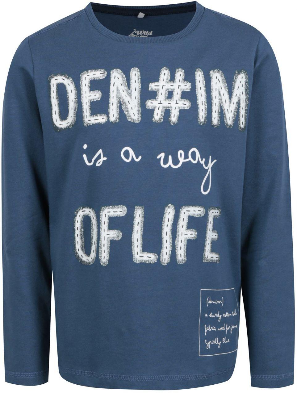 706f2cc3b98d Modré chlapčenské tričko s potlačou Name it Kenim značky name it - Lovely.sk