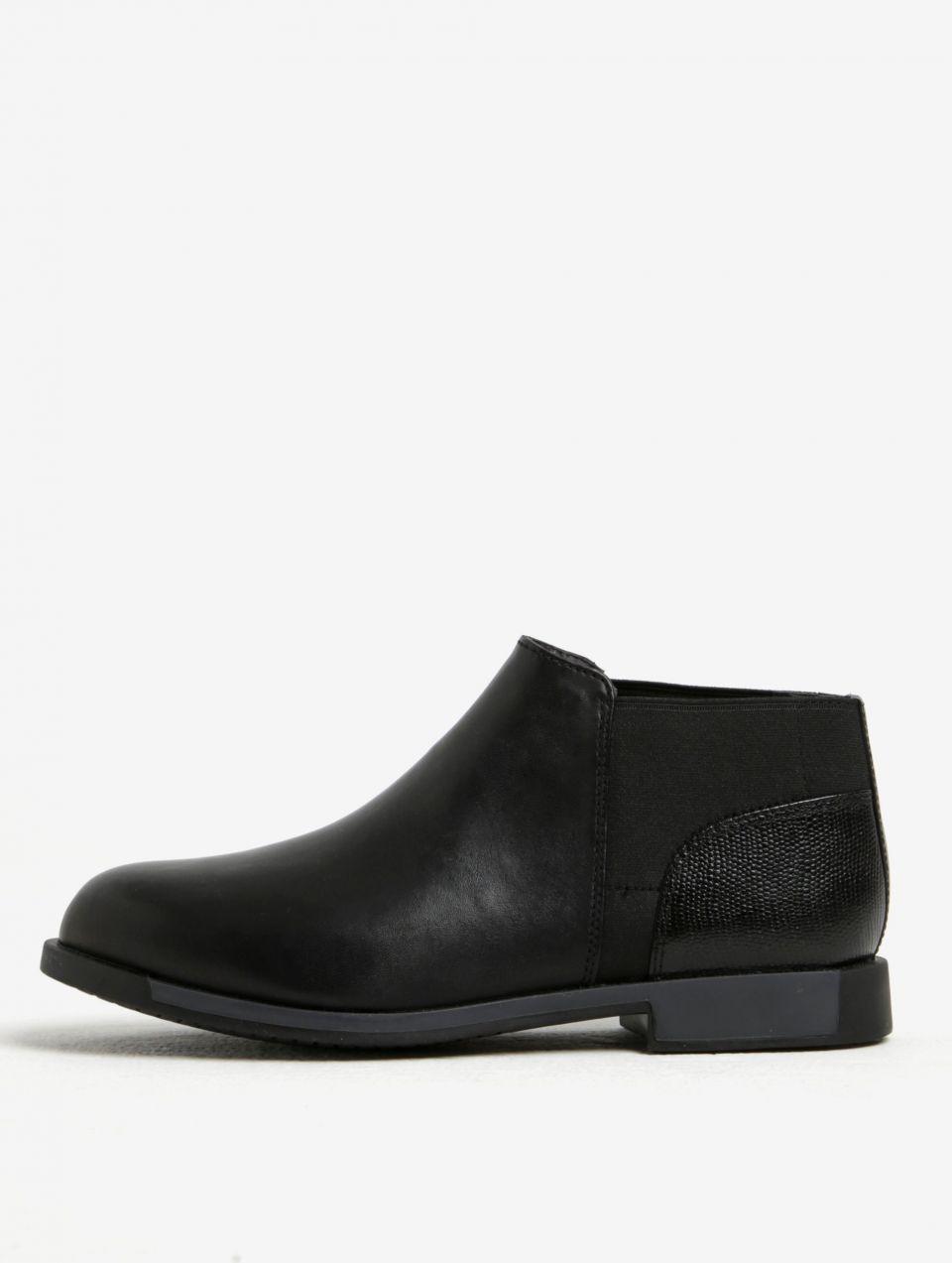1ce3930ca679c Čierne dámske kožené nízke chelsea topánky Camper značky Camper - Lovely.sk
