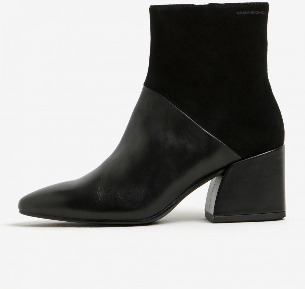 c1e8dec1c184 Čierne dámske kožené členkové topánky Vagabond Olivia značky Vagabond -  Lovely.sk