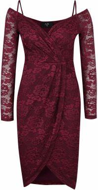 00a0152529b Čierno-vínové vzorované šaty VILA Clemment značky VILA - Lovely.sk
