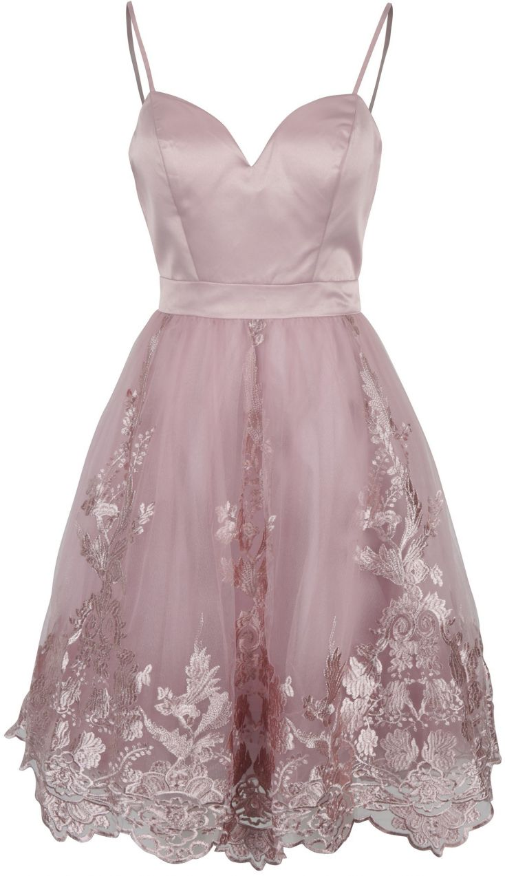 56d14b280459 Staroružové šaty s tylovou sukňou Chi Chi London Elise značky Chi Chi  London - Lovely.sk