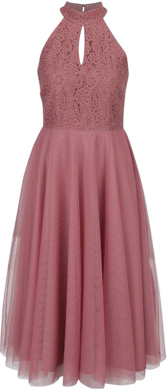 5e62e1d8d69a Tmavoružové šaty s tylovou sukňou Little Mistress značky Little Mistress -  Lovely.sk