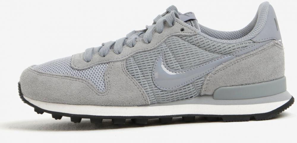 Sivé dámske tenisky so semišovými detailmi Nike Internationalist značky Nike  - Lovely.sk 9c1e63da692