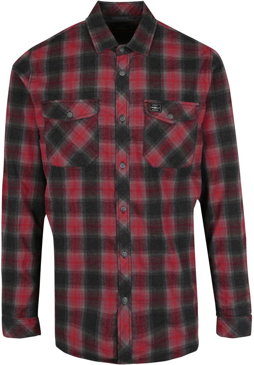 1e251437d009 Sivo-červená pánska kockovaná flanelová košeľa O Neill značky O Neill -  Lovely.sk
