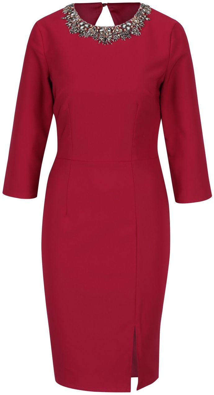 810567f883cf Ružové šaty s 3 4 rukávom Little Mistress značky Little Mistress - Lovely.sk