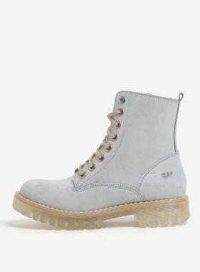 Svetlomodré dámske semišové členkové topánky Weinbrenner 7a1be9e6392