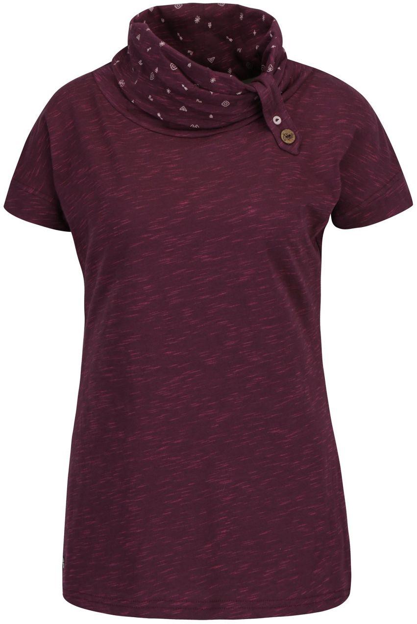 252a8b9c3693 Fialové dámske melírované tričko s vysokým golierom Ragwear Highway značky  Ragwear - Lovely.sk