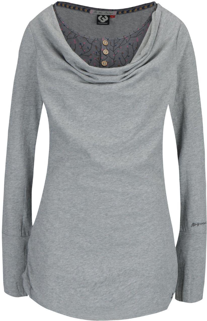 33a89320ed2d Sivé dámske melírované dlhé tričko so všitým dielom Ragwear Zimt značky  Ragwear - Lovely.sk