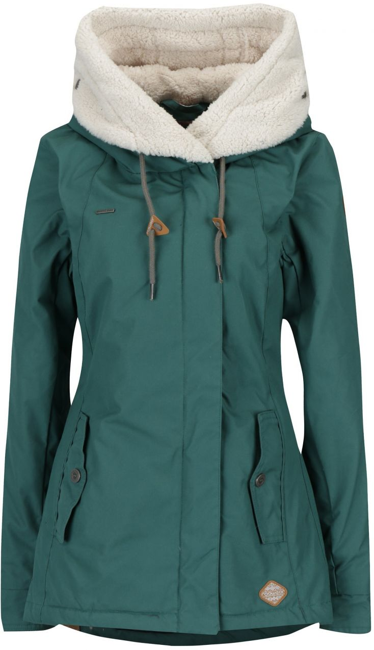 bac203c8d6b28 Zelená dámska zimná bunda s kapucňou a vreckami Ragwear Monica značky  Ragwear - Lovely.sk