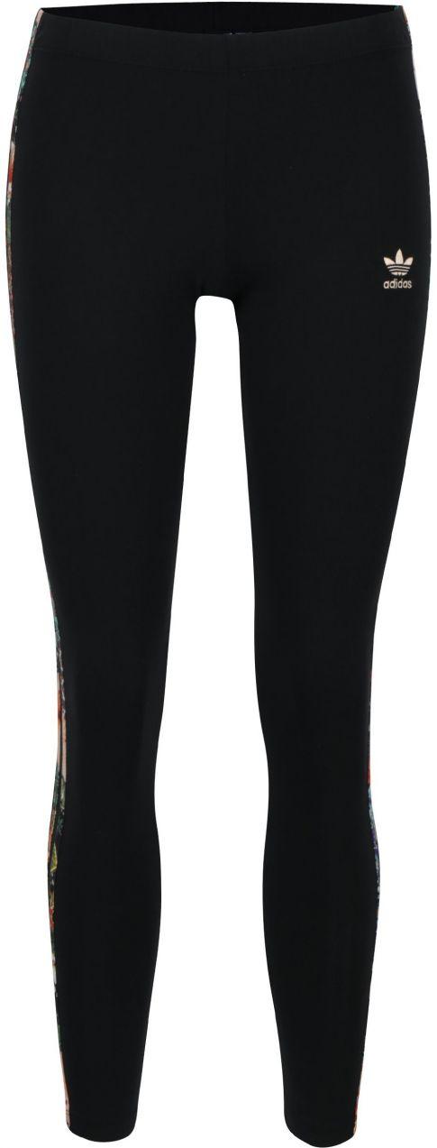 ff2b562b46ee Čierne dámske legíny so vzorovanými pruhmi na bokoch adidas Originals  značky adidas Originals - Lovely.sk