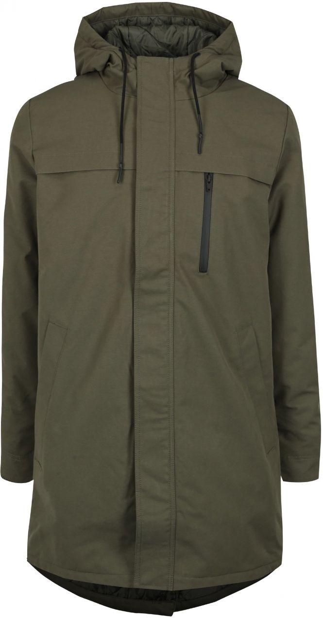 3b5bd7e07 Kaki pánsky zimný kabát s kapucňou RVLT značky RVLT - Lovely.sk