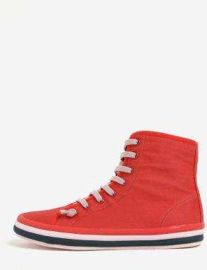 6f5cbf207df Červené unisex členkové tenisky s bielym logom Converse Chuck Taylor ...