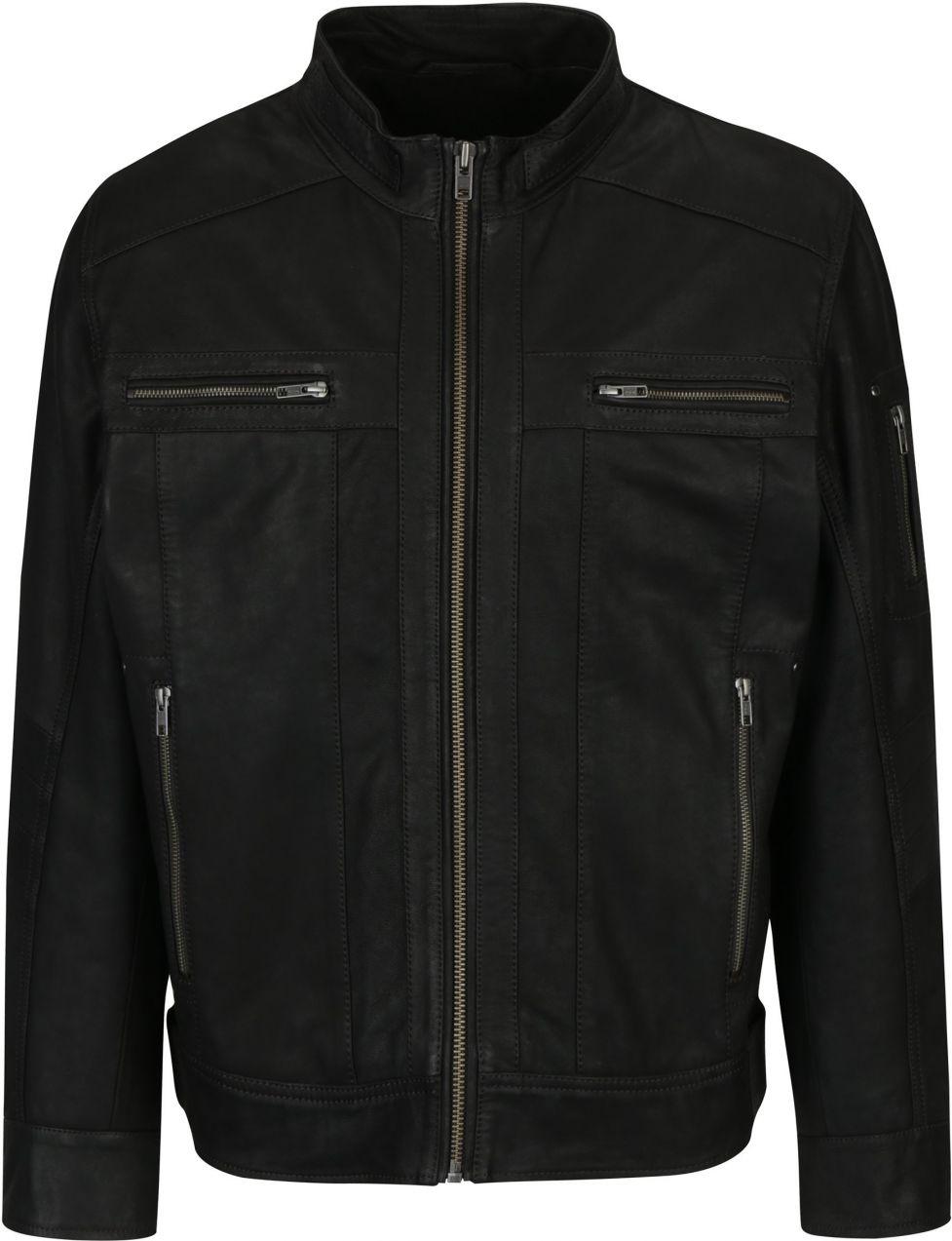 Tmavohnedá pánska kožená bunda KARA Joe značky KARA - Lovely.sk 8842e63133