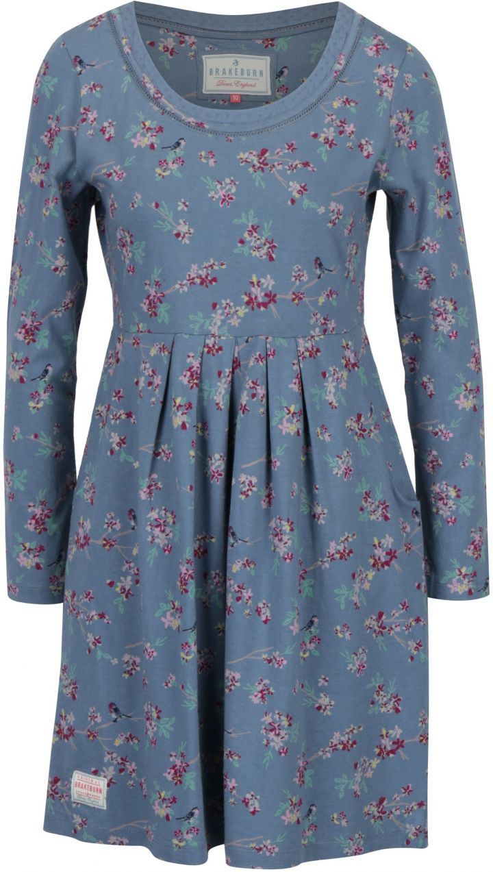 da392d5464 Modré kvetované šaty s dlhým rukávom Brakeburn značky Brakeburn - Lovely.sk