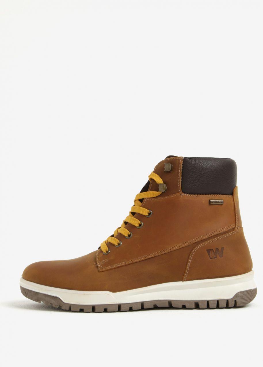 Hnedé pánske kožené členkové topánky Weinbrenner značky Weinbrenner -  Lovely.sk e14dd0a3601