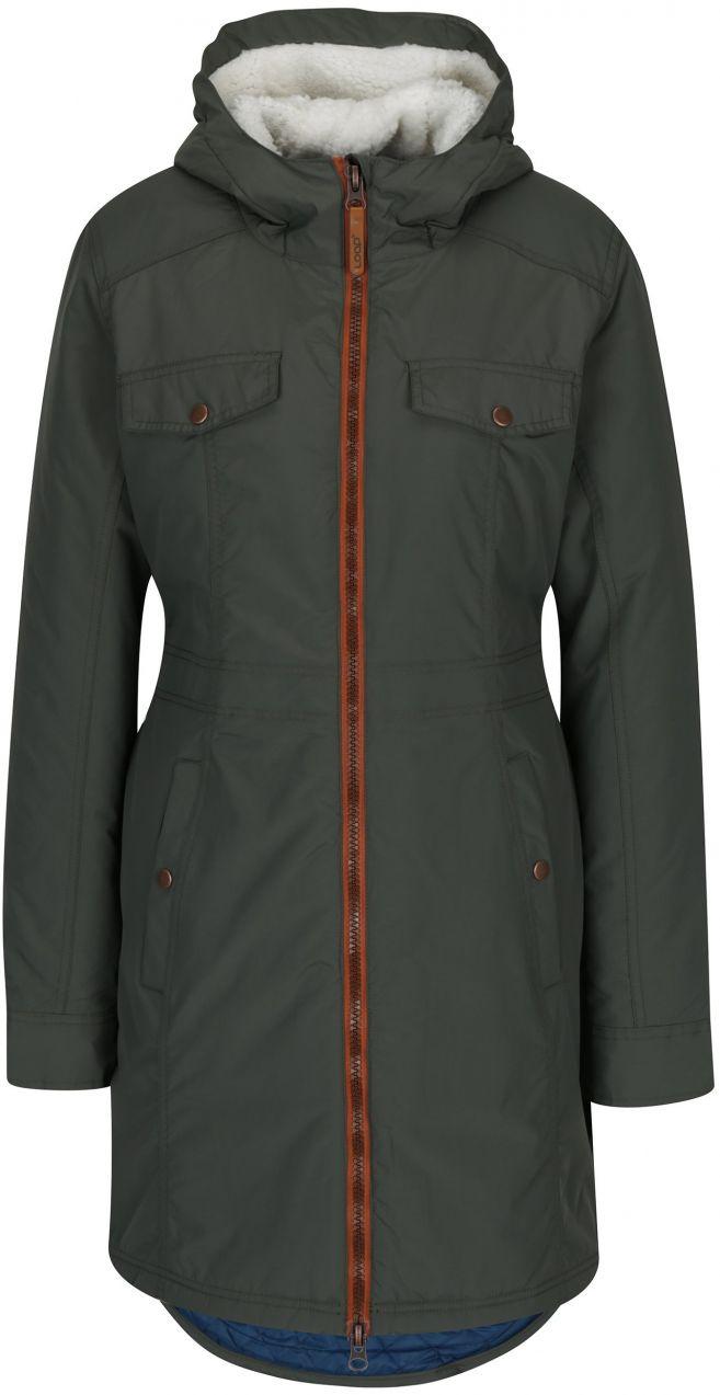 Tmavozelený dámsky zimný nepremokavý kabát LOAP Nikca značky LOAP -  Lovely.sk d26012a2d28
