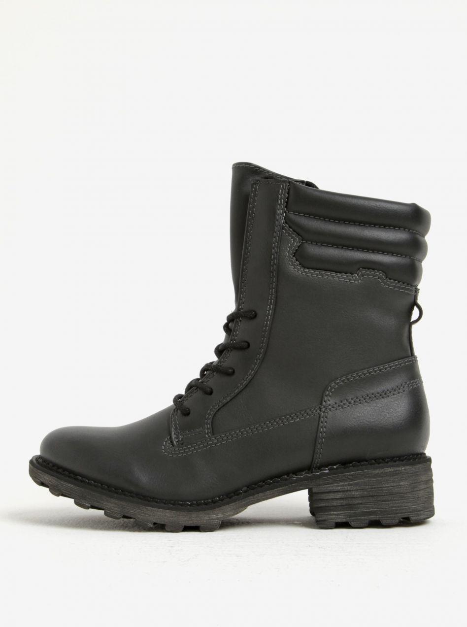 Čierne zimné členkové topánky Tamaris značky Tamaris - Lovely.sk 9bf6b1bc12e