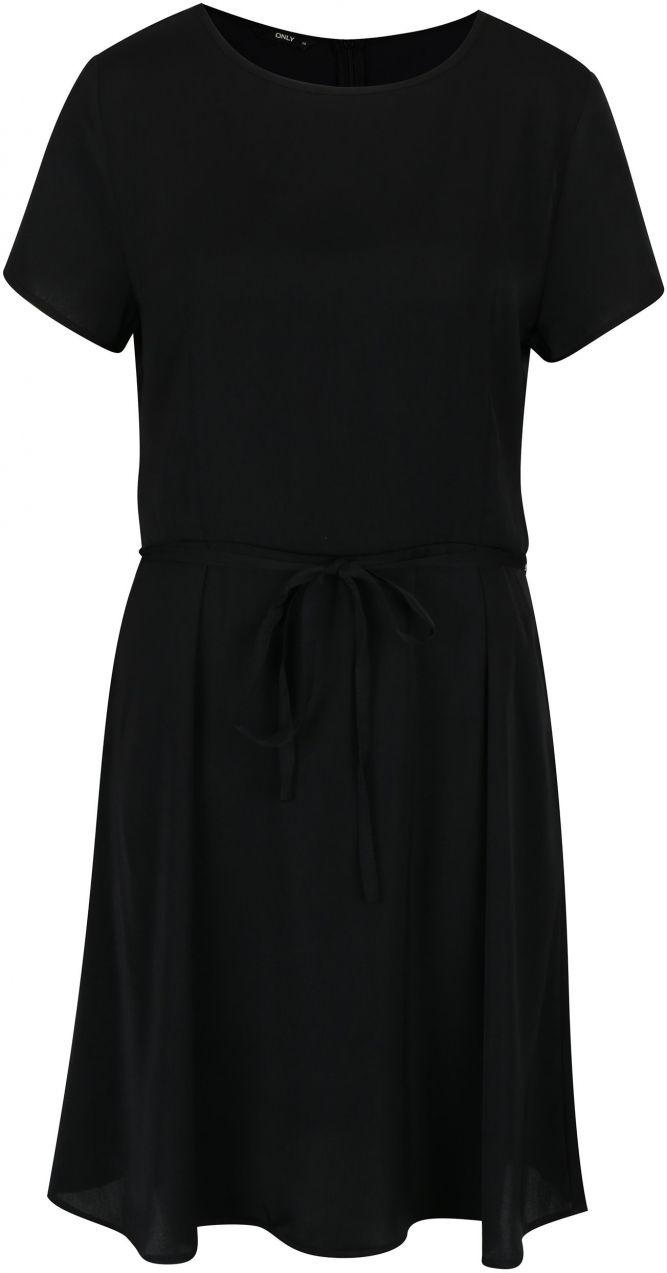 95d67f222797 Čierne šaty s krátkym rukávom ONLY Riga značky ONLY - Lovely.sk