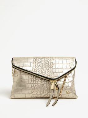 8ffba31be1802 Metalická listová/crossbody kabelka v zlatej farbe Gionni Renia