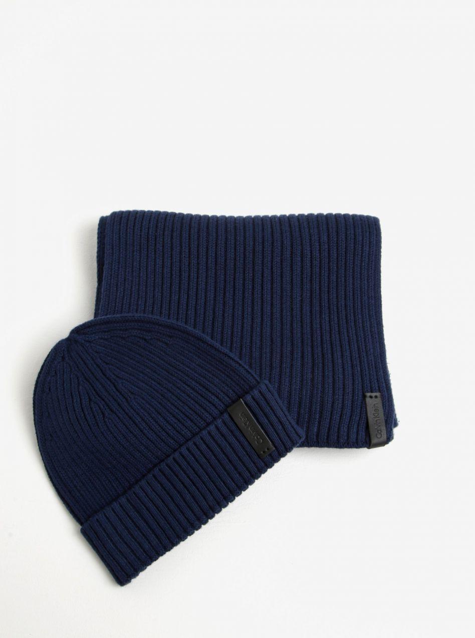 554dab45a Tmavomodrá pánska súprava čiapky a šálu Calvin Klein Jeans Octave značky  Calvin Klein Jeans - Lovely.sk