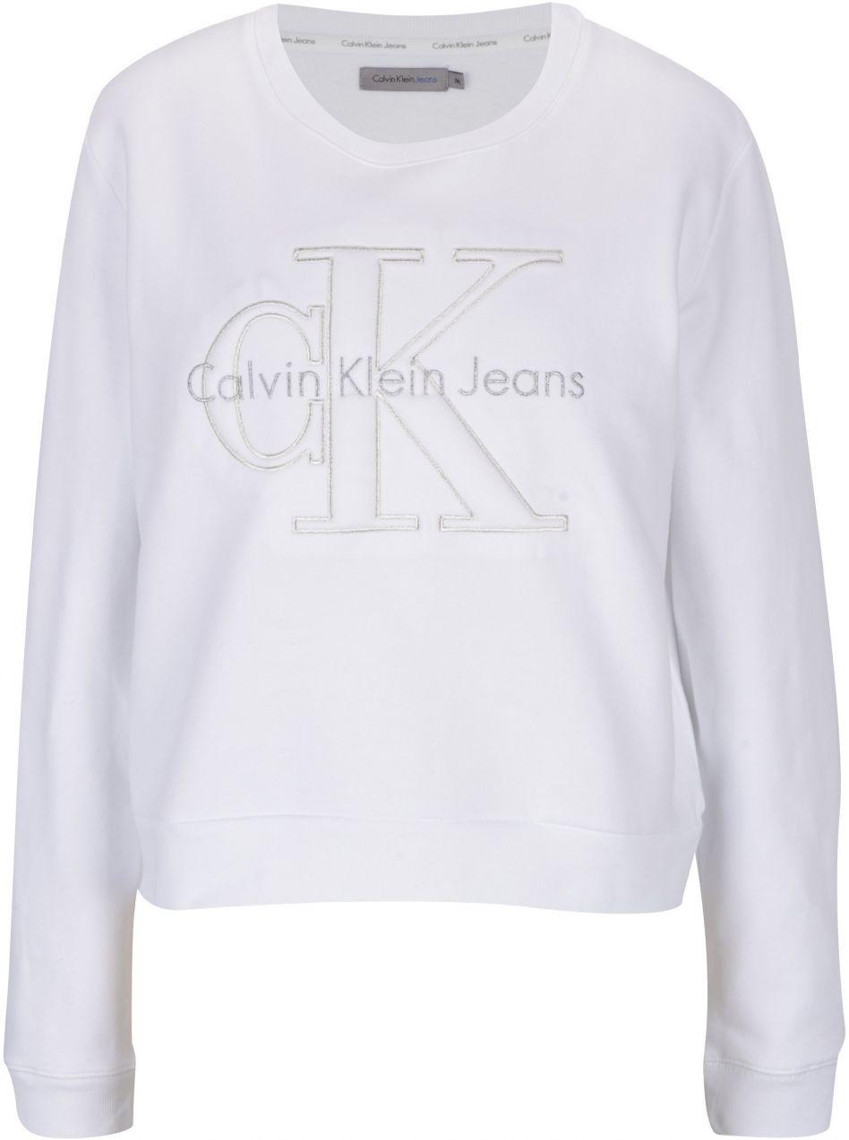 2d05f804e Biela dámska mikina s výšivkou Calvin Klein Jeans Harper značky Calvin  Klein Jeans - Lovely.sk
