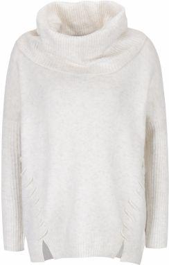 Fobya Dámsky sveter F414 WHITE značky Fobya - Lovely.sk a971e5ab76