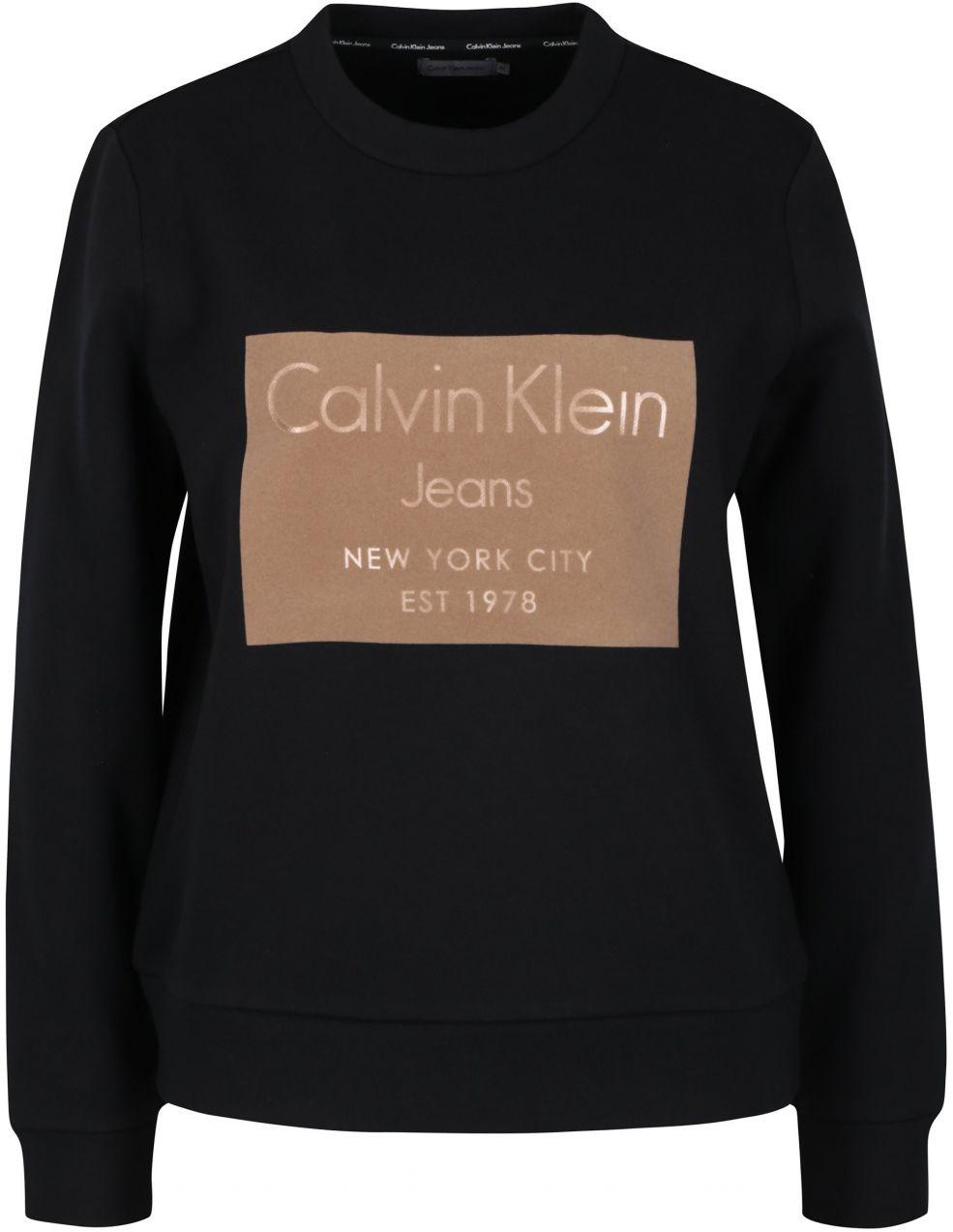 40ed3d8de14a Hnedo-čierna dámska mikina Calvin Klein Jeans Hansi značky Calvin Klein  Jeans - Lovely.sk