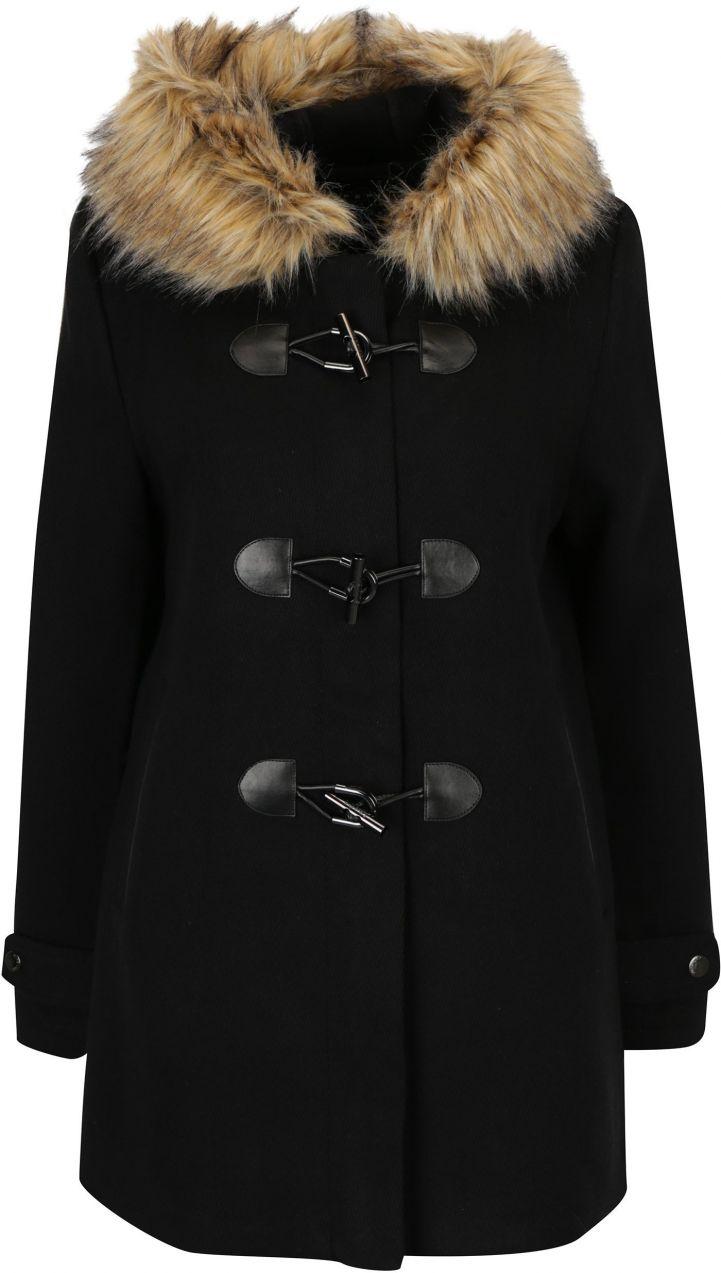 87ba0f85c3 Čierny dámsky vlnený kabát s kapucňou Superdry Brooklyn značky SuperDry -  Lovely.sk