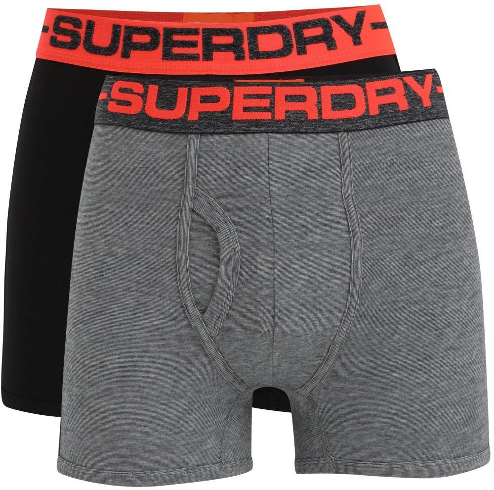 e298a490a3 Súprava dvoch boxeriek v sivej a čiernej farbe Superdry Sport značky  SuperDry - Lovely.sk