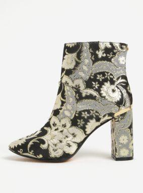 Zlato-čierne vzorované členkové topánky Ted Baker Ishbel 188cf0b92f4