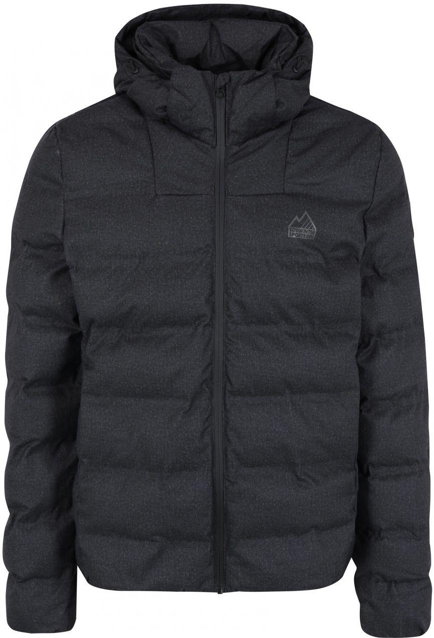 Tmavosivá pánska zimná prešívaná bunda s kapucňou Superdry Echo značky  SuperDry - Lovely.sk 28c63e4f5cf
