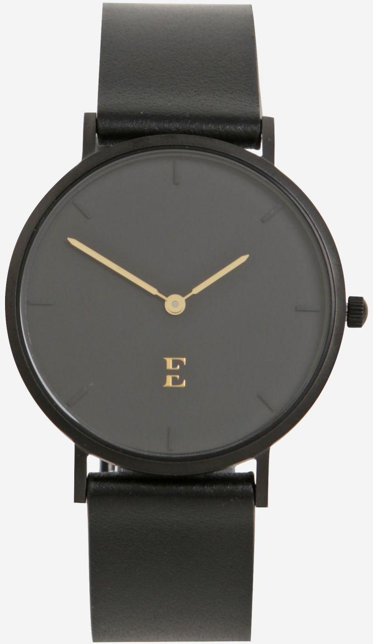 Čierne dámske hodinky s koženým remienkom Esoria Alys značky Esoria ... fe8685bbf55