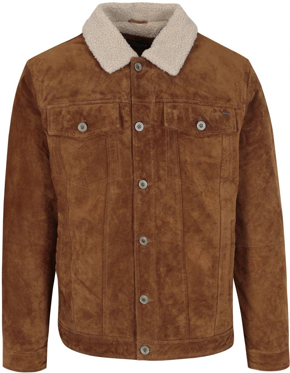 Hnedá zimná semišová bunda Jack   Jones Vintage Pride značky Jack   Jones -  Lovely.sk 398a41c9d2