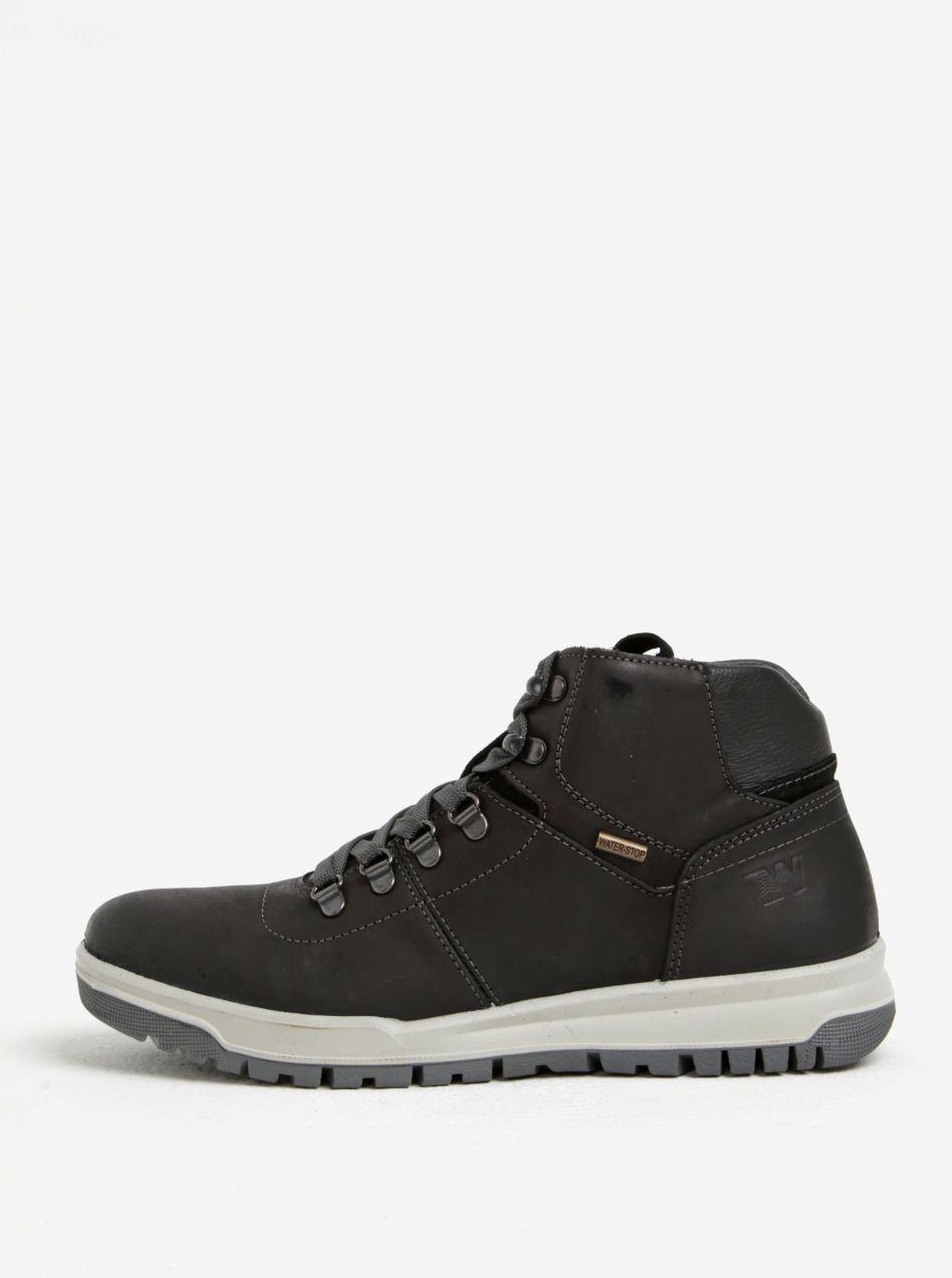 Čierne pánske kožené členkové topánky Weinbrenner značky Weinbrenner -  Lovely.sk c2bb63ac1d8