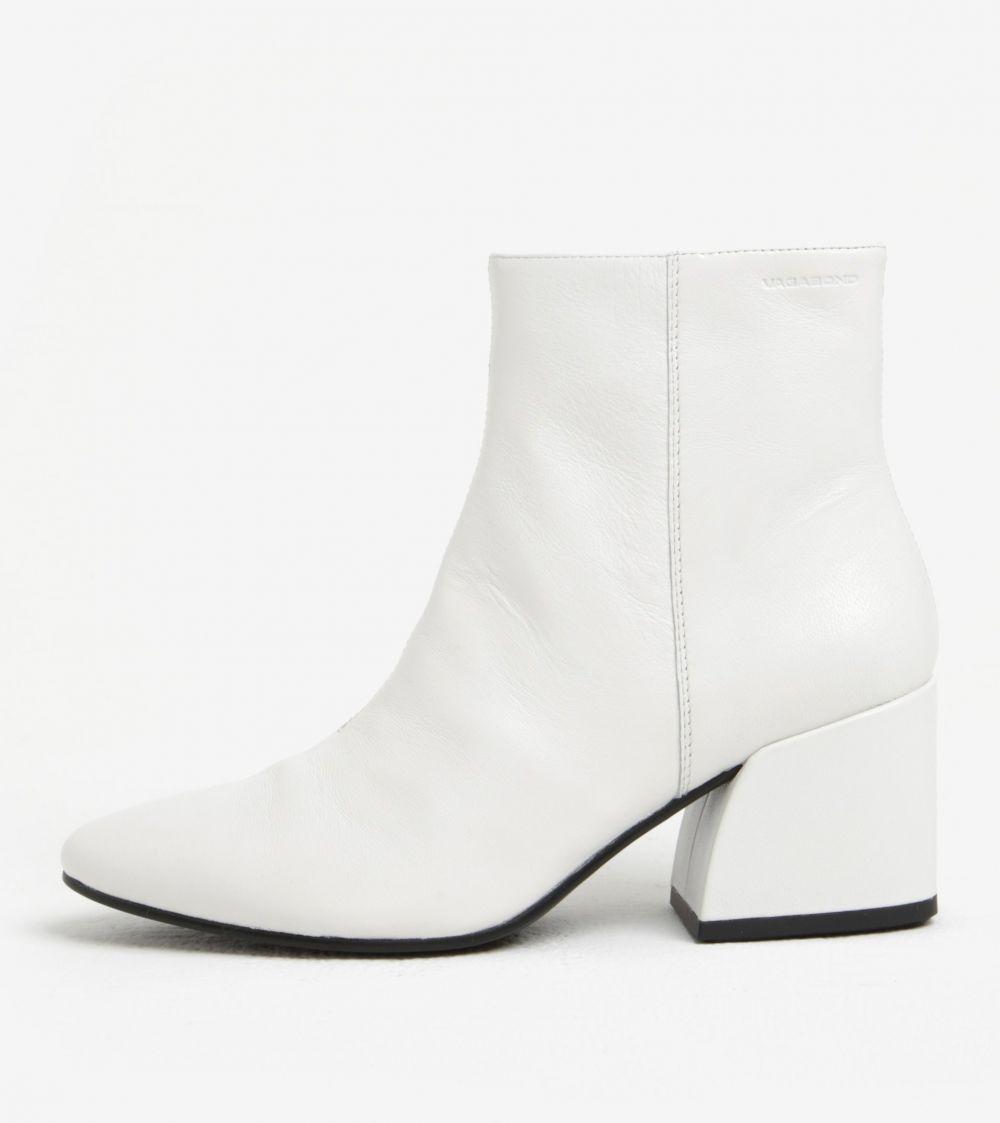 Biele dámske kožené členkové topánky na podpätku Vagabond Olivia značky  Vagabond - Lovely.sk 8e3dc2ac9d2
