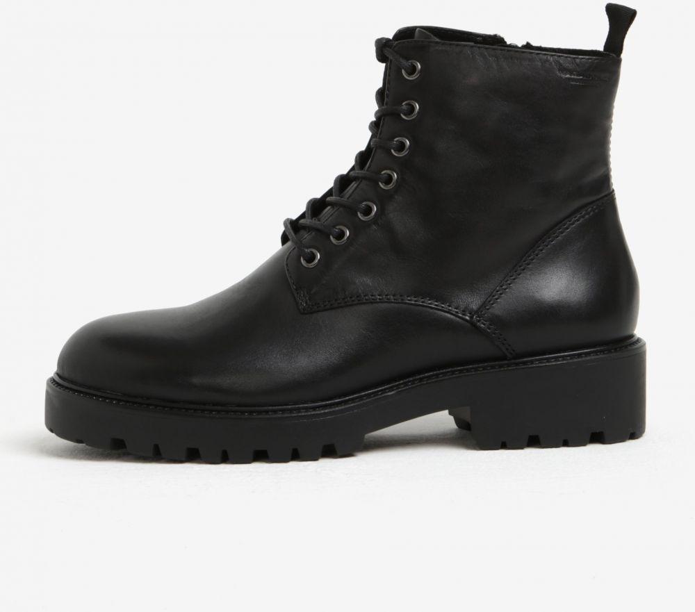 a57c48d31037 Čierne dámske kožené členkové topánky Vagabond Kenova značky Vagabond -  Lovely.sk