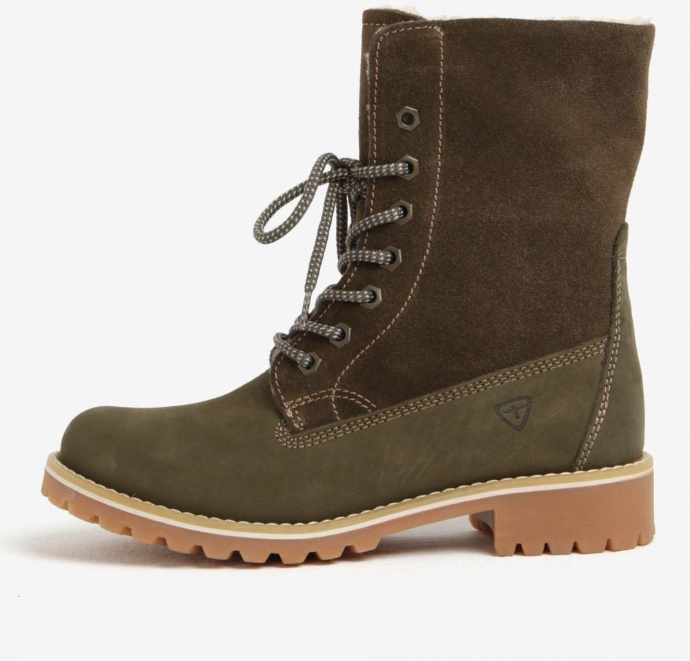 cdc234911988 Zelené semišové vodovzdorné zimné topánky Tamaris značky Tamaris - Lovely.sk