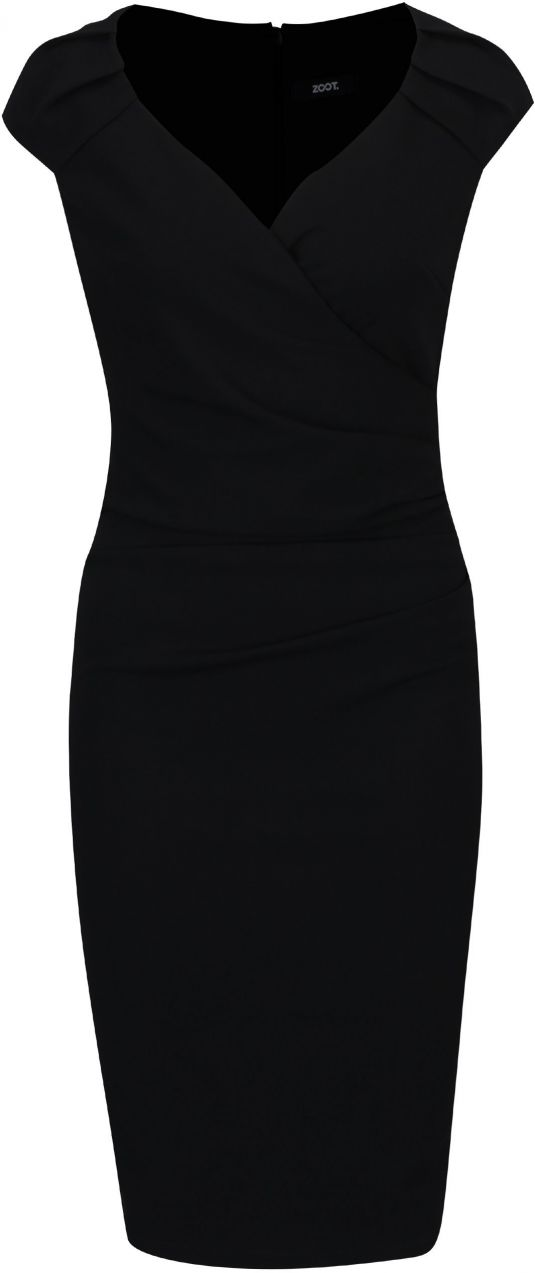 2cc01bc4bed0 Čierne puzdrové šaty s prekladaným výstrihom ZOOT značky ZOOT - Lovely.sk