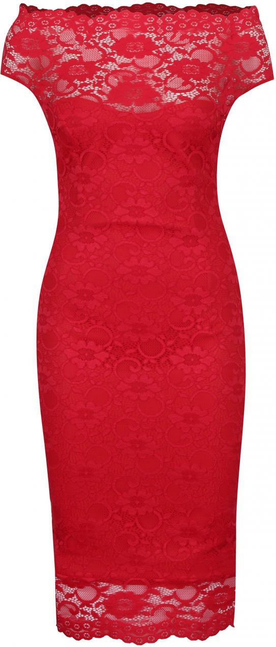 64e2f5181529 Červené puzdrové čipkované šaty ZOOT značky ZOOT - Lovely.sk