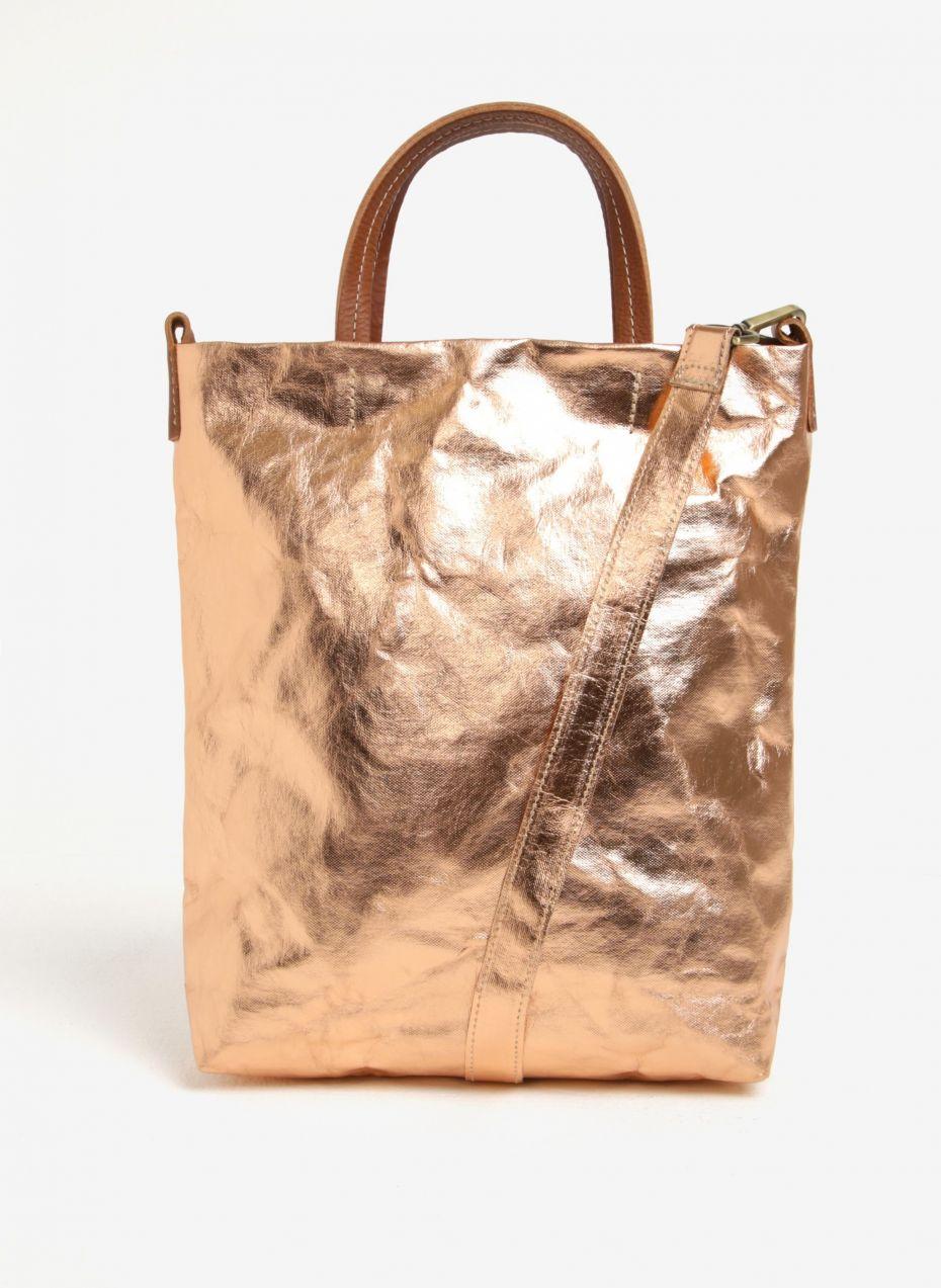 5b638b6407 Kabelka taška v ružovozlatej farbe UASHMAMA® Otti značky UASHMAMA® -  Lovely.sk