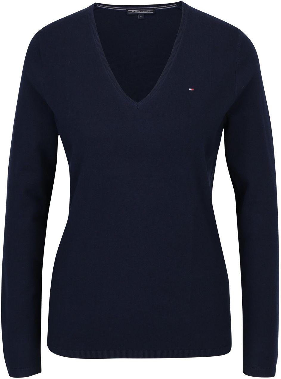 3a8a6454e5 Tmavomodrý dámsky sveter s véčkovým výstrihom Tommy Hilfiger New Ivy značky  Tommy Hilfiger - Lovely.sk