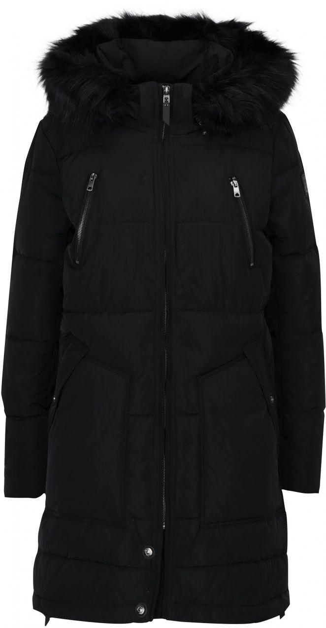 Čierny páperový prešívaný kabát s kapucňou ONLY Rhoda značky ONLY -  Lovely.sk 2e0347dfb98