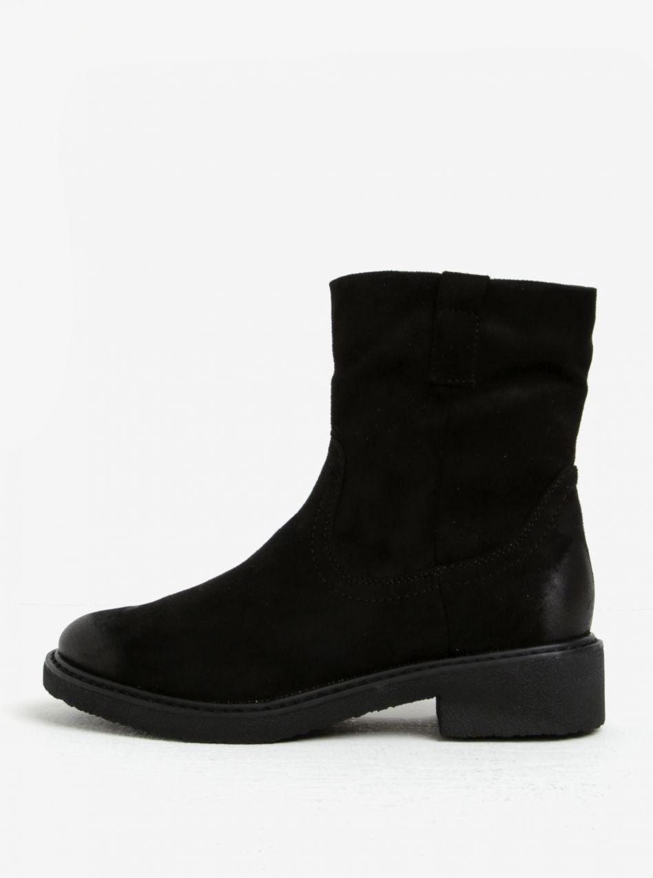 b2b39b3306 Čierne zimné členkové topánky v semišovej úprave ONLY Daria značky ONLY -  Lovely.sk