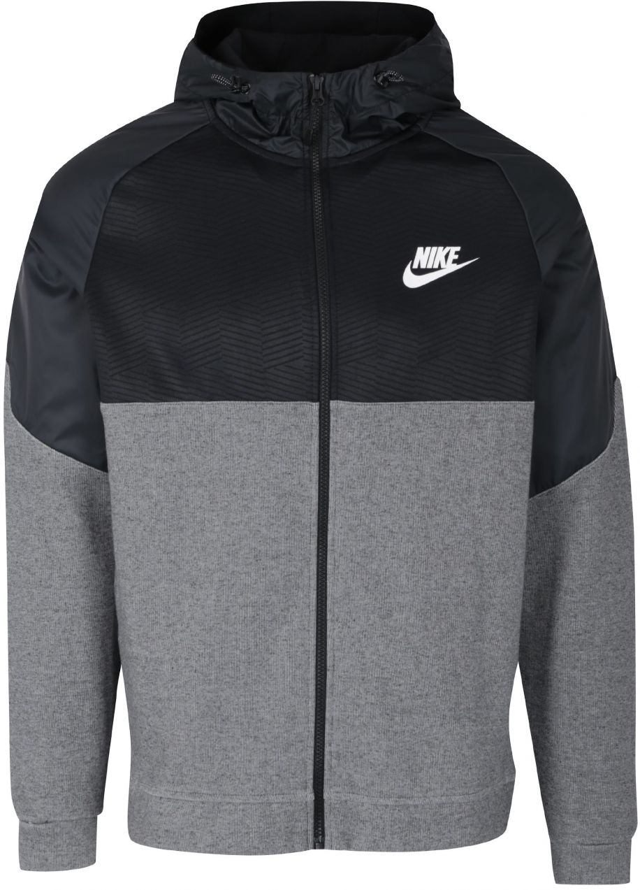 Čierno-sivá pánska mikina s kapucňou Nike NSW značky Nike - Lovely.sk d3d256a9caf