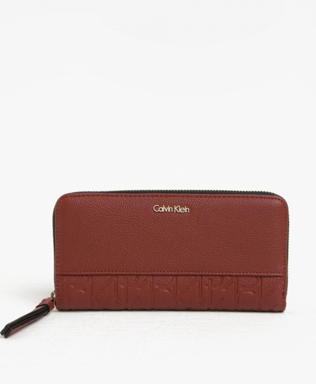 Hnedá dámska peňaženka na zips Calvin Klein Jeans Misha značky Calvin Klein  Jeans - Lovely.sk 11f6a683df4