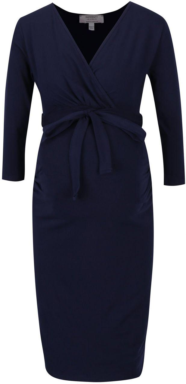 c52714ec3b97 Tmavomodré tehotenské šaty Dorothy Perkins Maternity značky Dorothy Perkins  Maternity - Lovely.sk