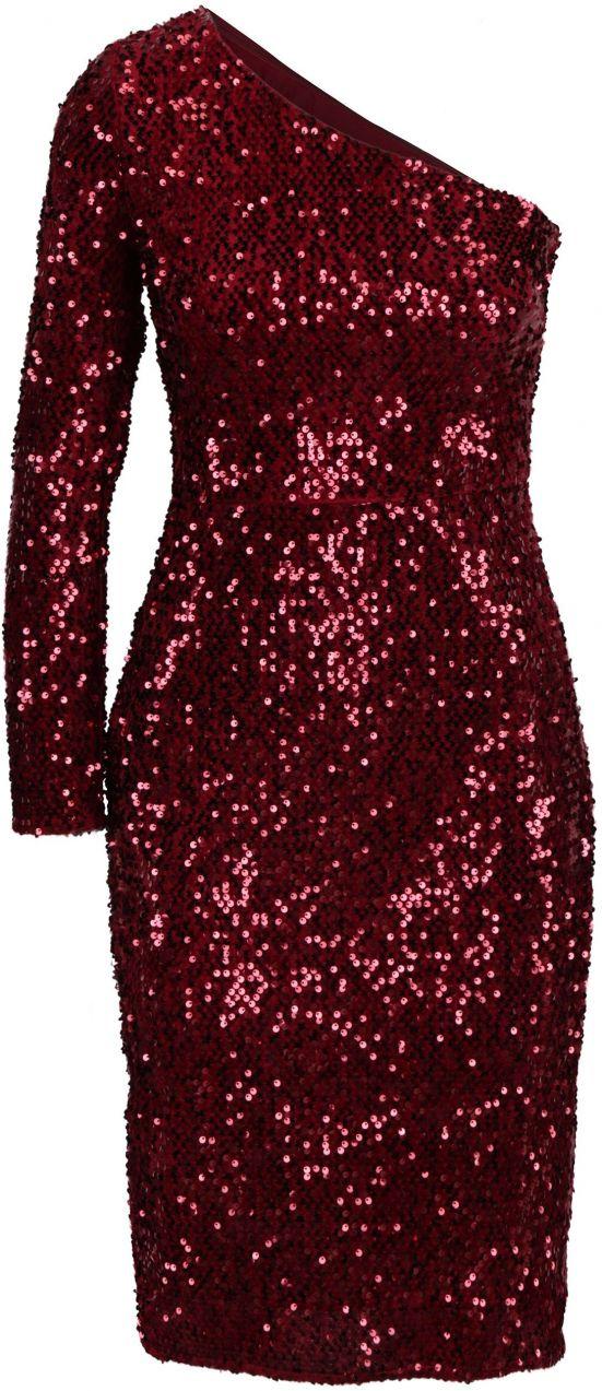 60bf44bd15 Červené flitrované asymetrické šaty Dorothy Perkins značky Dorothy Perkins  - Lovely.sk