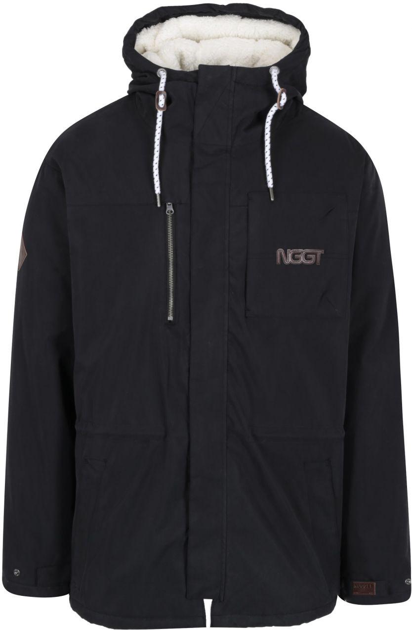Čierna pánska zimná funkčná parka s kapucňou NUGGET Sherman 2 značky Nugget  - Lovely.sk 2a69bf33d67