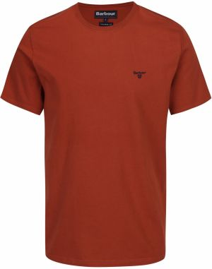 Tehlové tailored fit tričko Barbour Sports Tee