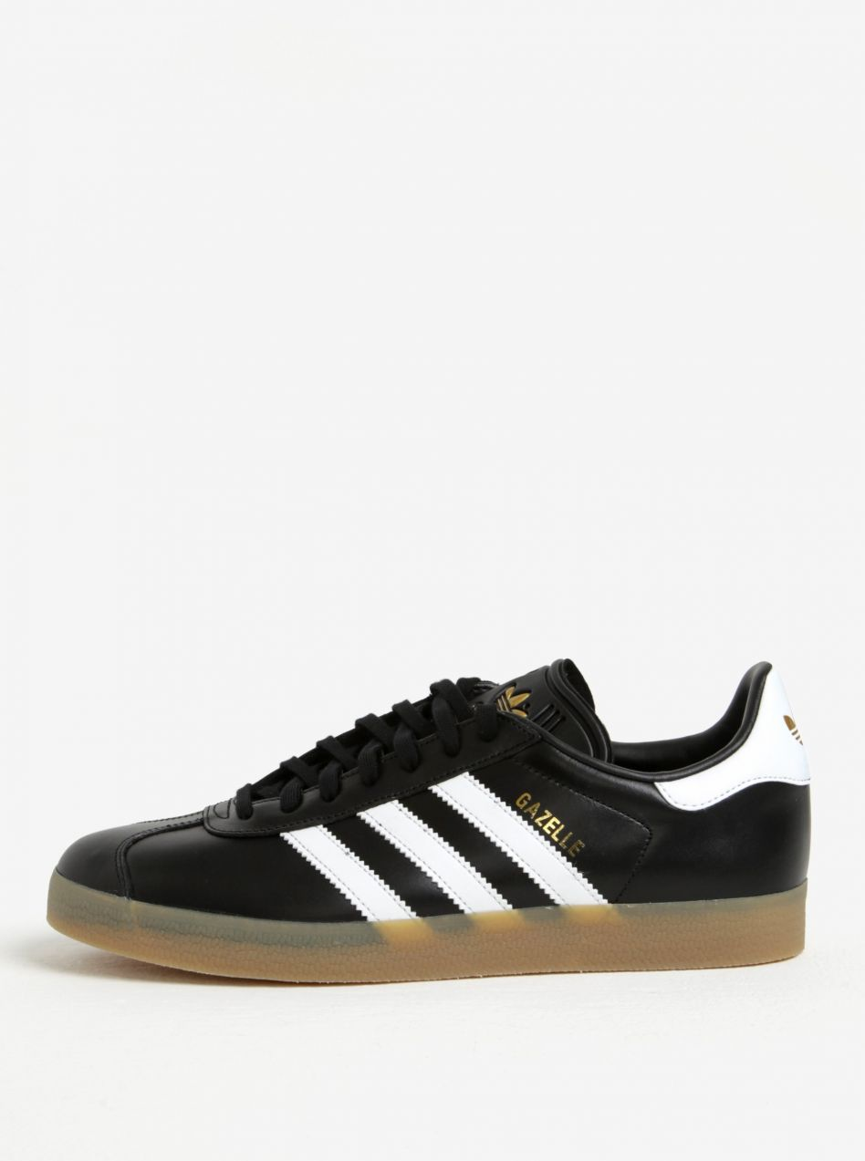 Čierne pánske kožené tenisky adidas Originals Gazelle značky adidas  Originals - Lovely.sk 71f7c6b9450
